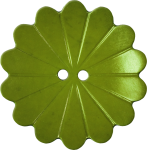 Floral Button with Fourteen Petals, Avocado