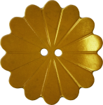 Floral Button with Fourteen Petals, Gold