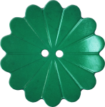 Floral Button with Fourteen Petals, Green