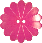 Floral Button with Fourteen Petals, Pink