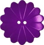 Floral Button with Fourteen Petals, Purple