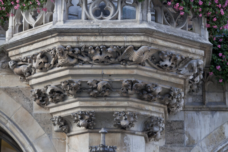 Floral Corbel Supporting Balcony