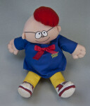 Florida Cloth Doll of Uncle Fred Lasswell, Cartoonist for Snuffy Smith Strip (Full View Sitting)