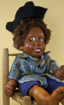 Florida Collectible Naber Doll Hand Made of Natural Wood and Cast Form Wood (Three Quarter View)