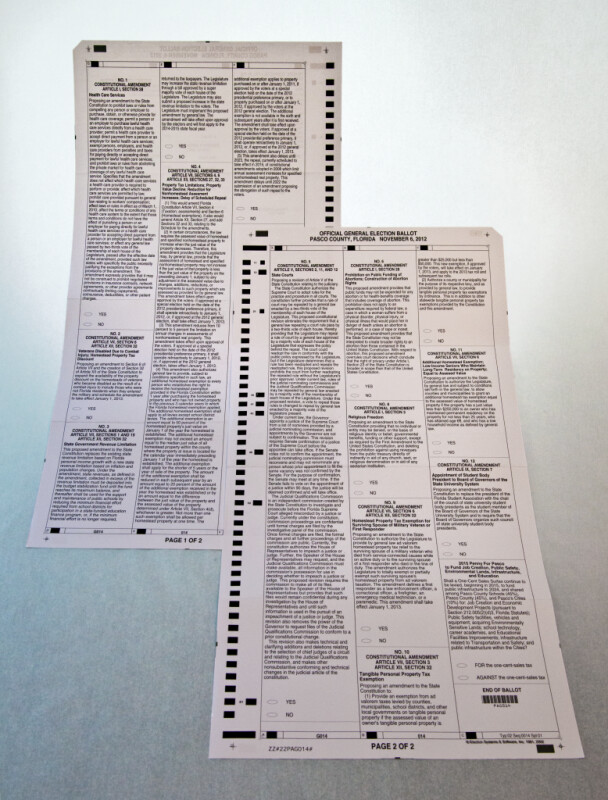 Florida Constitutional Amendments on 2012 General Election Ballot