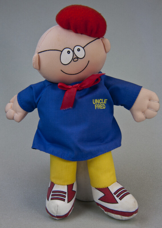 Florida Fabric Doll of Uncle Fred Lasswell, Artist of Snuffy Smith Cartoon (Full View)