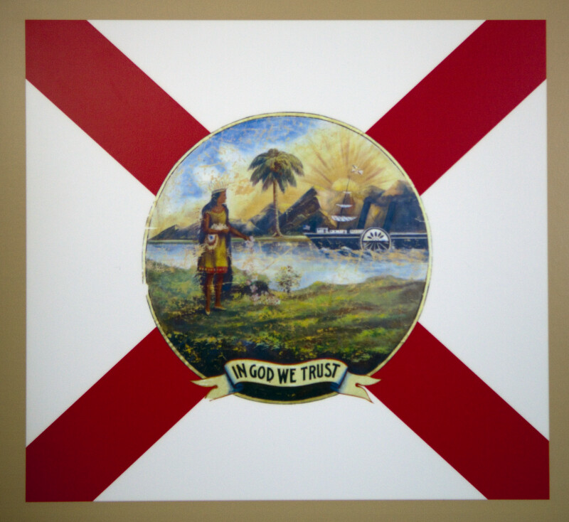Florida Flag With Cross