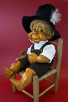 Florida Gilbert Naber Kids Doll Made with Wood Chips and Resin (Three Quarter View)