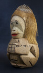Florida Key West Souvenir Figure of Coconut Shell Bank (Three Quarter View)