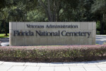 Florida National Cemetery Sign