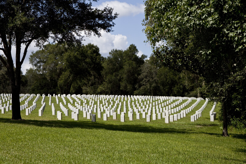Florida National Cemetery Tombstones