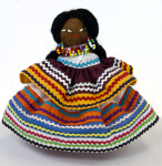 Florida Seminole Woman Doll Made with Native Palmetto Fiber (Full View)
