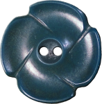 Flower Button with Four Petals, Blue-Grey