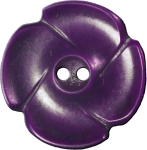 Flower Button with Four Petals, Purple