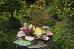 Flower Sculpture Surrounding Flower Pot