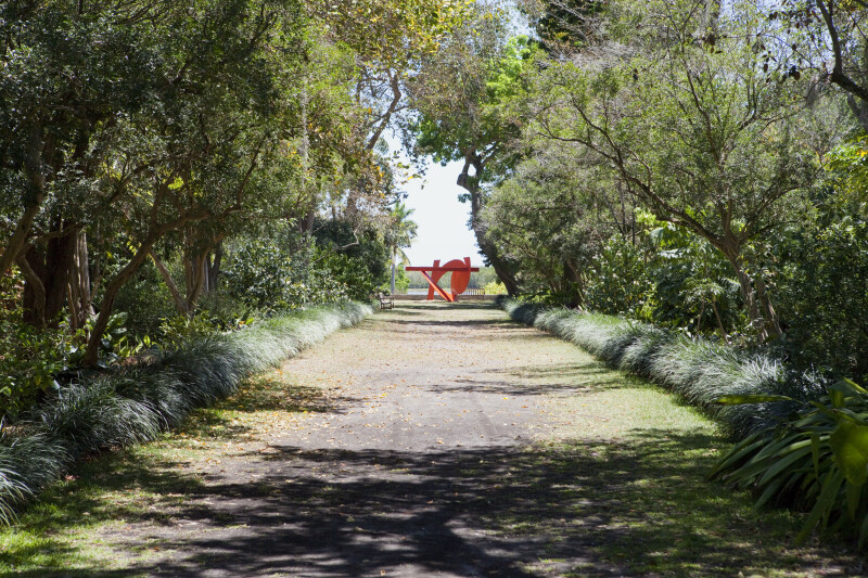 Footpath Leading to Red, Artistic Structure