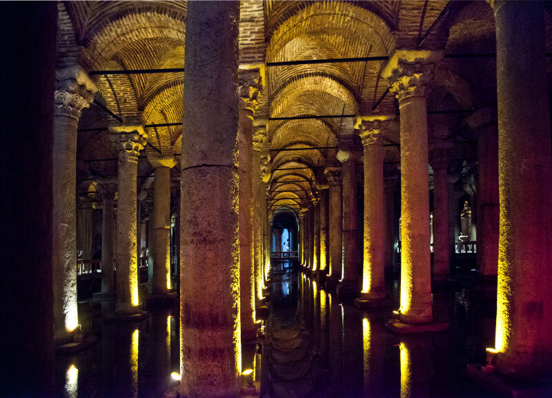Forest of Columns at the Basilica Cistern