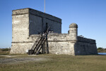 Fort Matanzas as Seen from the South, with Visitors on Gundeck