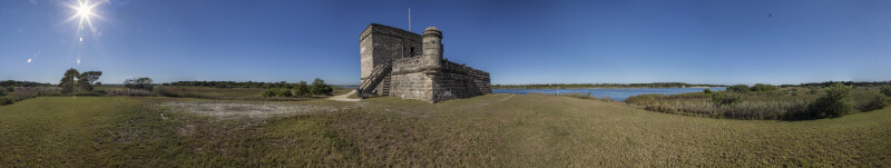 Fort Matanzas as Seen from the South