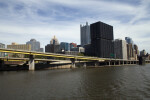Fort Pitt Bridge and Office Building in Pittsburgh