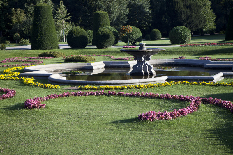 Fountain and Landscaping
