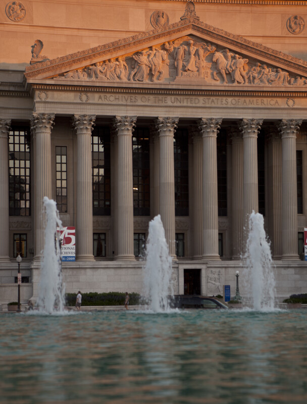 Fountain and National Archives Building