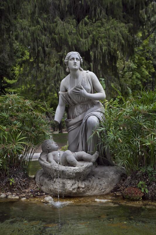 Fountain at the Villa Borghese Gardens