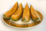 Four Cantaloupe Slices