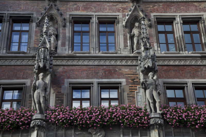 Four Statues at New Town Hall
