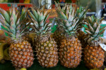 Four Tropical Pineapples