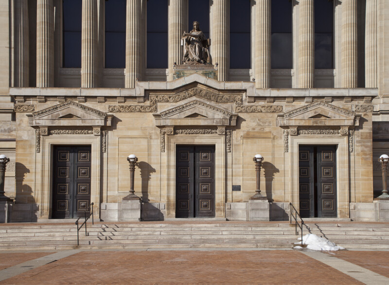 Front Doors of Soldiers and Sailors' Memorial Hall