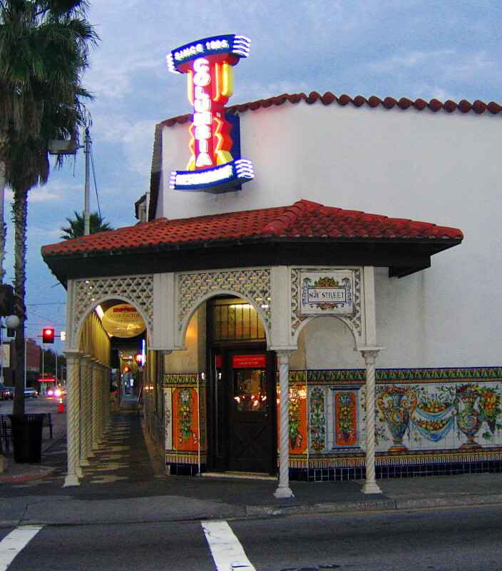 Front Entrance of Columbia Restaurant in Ybor City