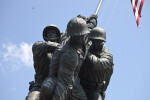Front View of Flag Raising Statue