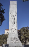 Front View of the Alamo Cenotaph