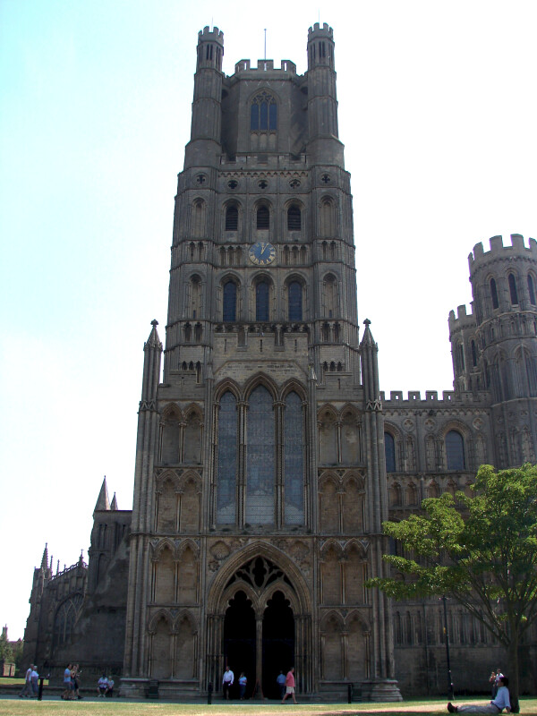 Front View of the Ely Cathedral