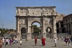 Frontal View of the Arch of Constantine and the Colosseum