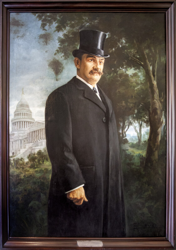 Full-Length Painting of Luis Muñoz Rivera