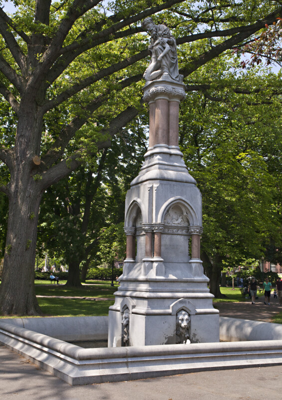 Full View of the Ether Monument at the Boston Public Garden