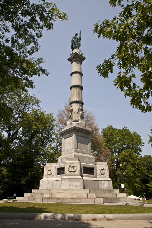 Full View of the Soldiers and Sailors Monument at Boston Common