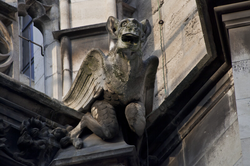 Gargoyle Sculpture at New Town Hall