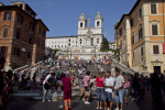 General View of Piazza di Spagna and the Spanish Steps