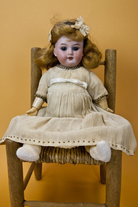 Germany, Armand Marseille Doll with Original Dress, Slip, Socks and Wig (Full View)