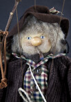 Germany Elderly Man Puppet with Five Strings by Ursula Gehlmann (Close Up)