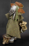 Germany Handcrafted Woodsman Puppet with Alpine Hat and Wood Bird Houses (Back View)