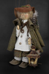 Germany Handmade Bird Seller Puppet on Strings by Ursula Gehlmann (Three Quarter View)