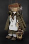 Germany Handmade Bird Seller Puppet on Strings by Ursula Gehlmann (Three Quarter View)