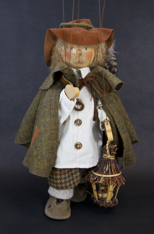 Germany Handmade Wooden Marionette with Stings by Ursula Gehlmann (Full View)