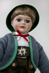Germany Male Doll Dressed in Lederhosen, Hat, and Jacket (Three Quarter View)