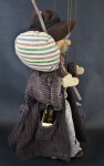 Germany Wooden Marionette with Knapsack and Bedroll (Profile View)