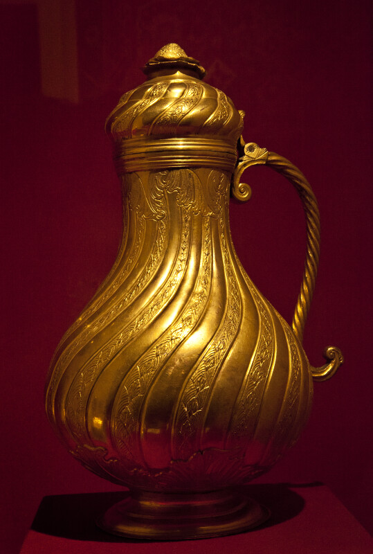 Gilded Copper Kettle
